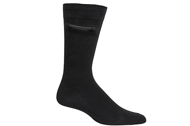 Pocket Socks™: The Original Socks with a Pocket (Men's/Black, 3-Pack) for $26