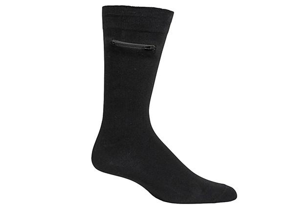 Pocket Socks™: The Original Socks with a Pocket (Men's/Black, 3-Pack) for $26
