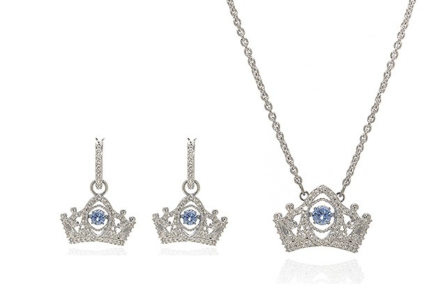 "Swarovski ""Bee A Queen"" Rhodium-Plated Crystal Necklace & Earring Set (Store-Display Model) for $84"