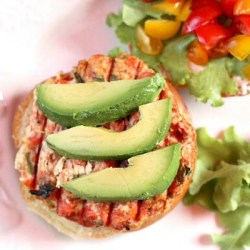 hatch chile salmon burger