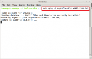 Installing AVG In Linux Mint / Ubuntu
