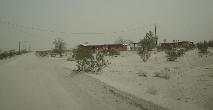 sand storm in Mojave