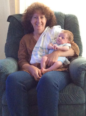 Diane with her grandson!