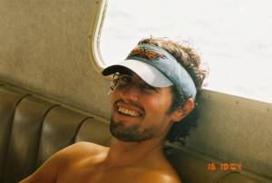 "Adam, founder of iHaveUC lounging in the main galley of the ""Conception"", 80 ft. dive boat out of Santa Barbara...back in the day...(pre colitis)...in honor of Kristen, the SB party girl!"