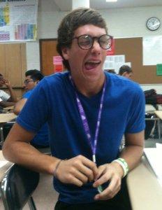 Vinny at school