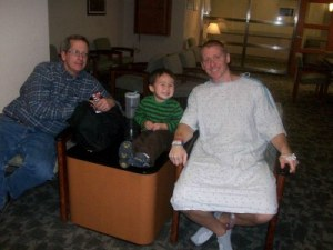 with family after colon surgery