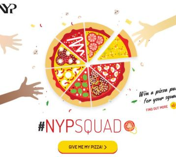 Nanyang Polytechnic Singapore brings out the school spirit with #NYPSquad Pizza Giveaway Facebook App as part of their content marketing efforts.