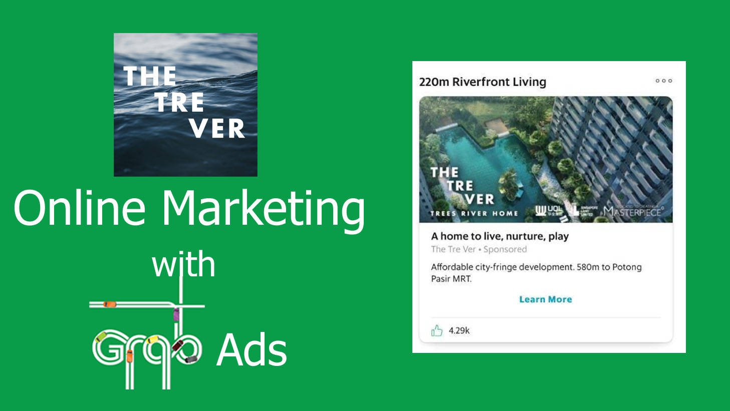 UOL Tre Ver online marketing on Grab Ads | IH Digital Singapore