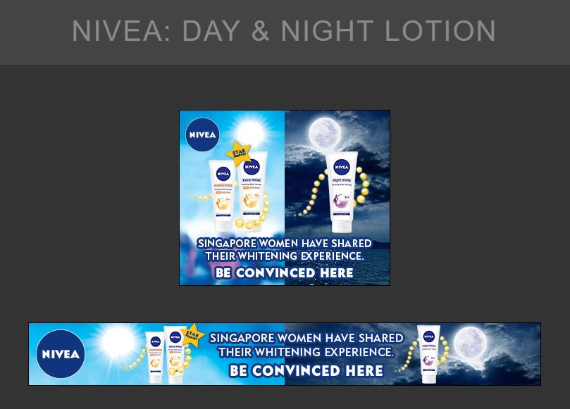 A set of GDN Banner Ads for Nivea Day and Night Lotion - Digital Advertising