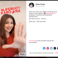 TikTok Ads: #LifebuoyKarona Hashtag Challenge Gains 20B Views in India