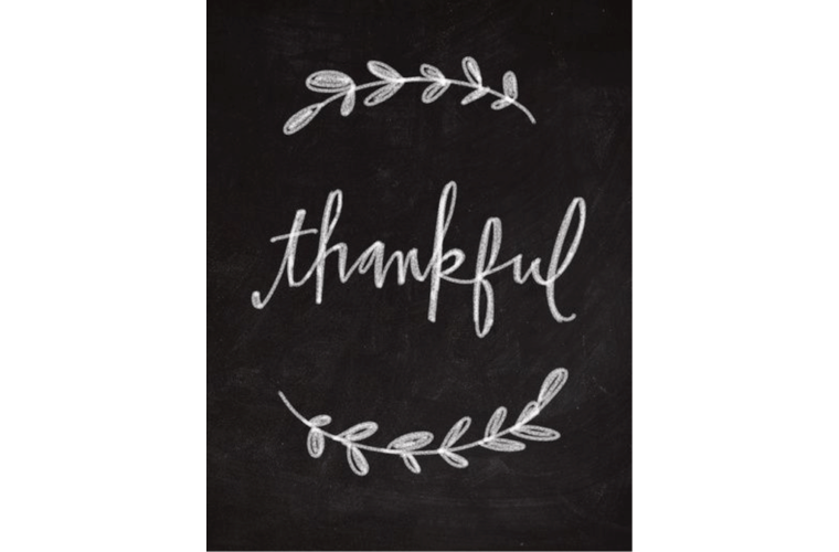 script font reading thankful
