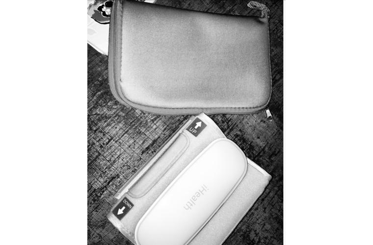 iHealth wireless blood pressure cuff and travel bag