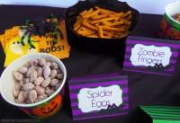 spooky halloween food labels