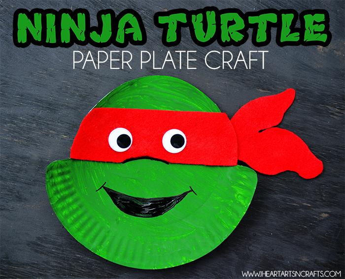 Manualidad Tortuga Ninja con plato de plástico