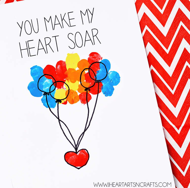 You Make My Heart Soar Fingerprint Card I Heart Arts N