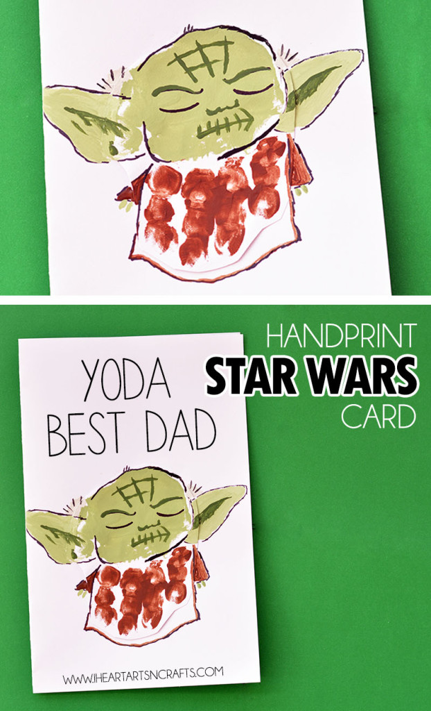 Handprint Yoda Fathers Day Card I Heart Arts N Crafts