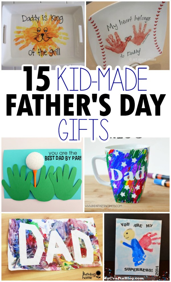 15 Kid-Made Father's Day Crafts - I Heart Arts n Crafts