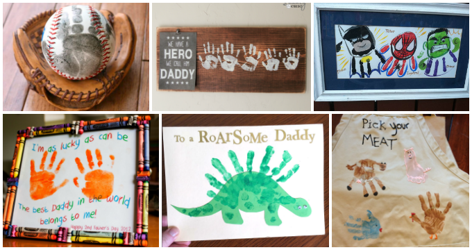 Fathers Day Handprint And Footprint Crafts For Kids I