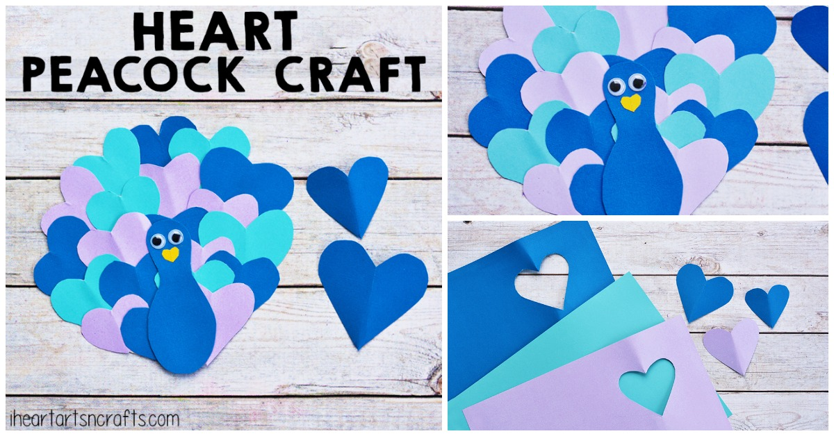 Heart Peacock Craft For Kids I Heart Arts N Crafts