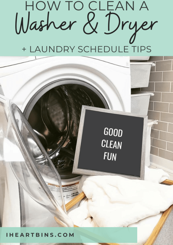 How to Clean a Washer & Dryer + Laundry Schedule Tips