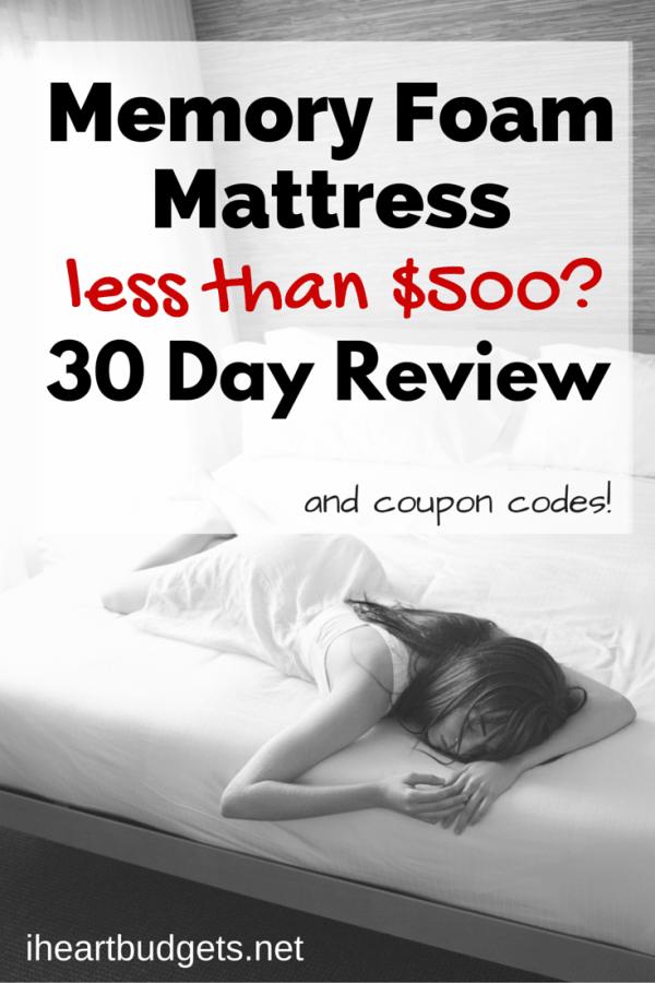 Memory Foam Mattress for less than $500-