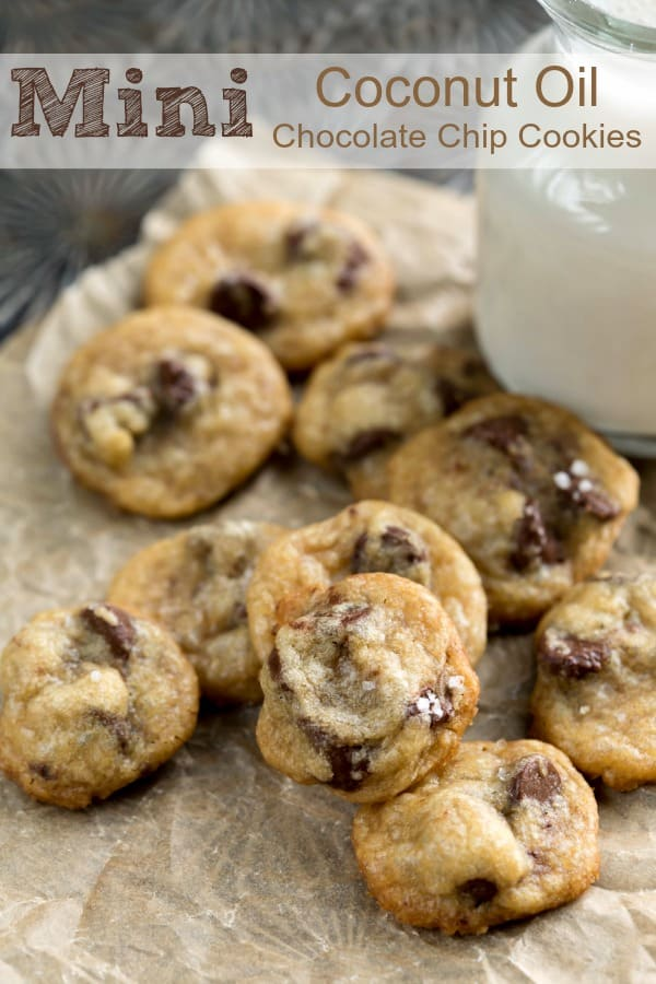 Mini Coconut Oil Chocolate Chip Cookies