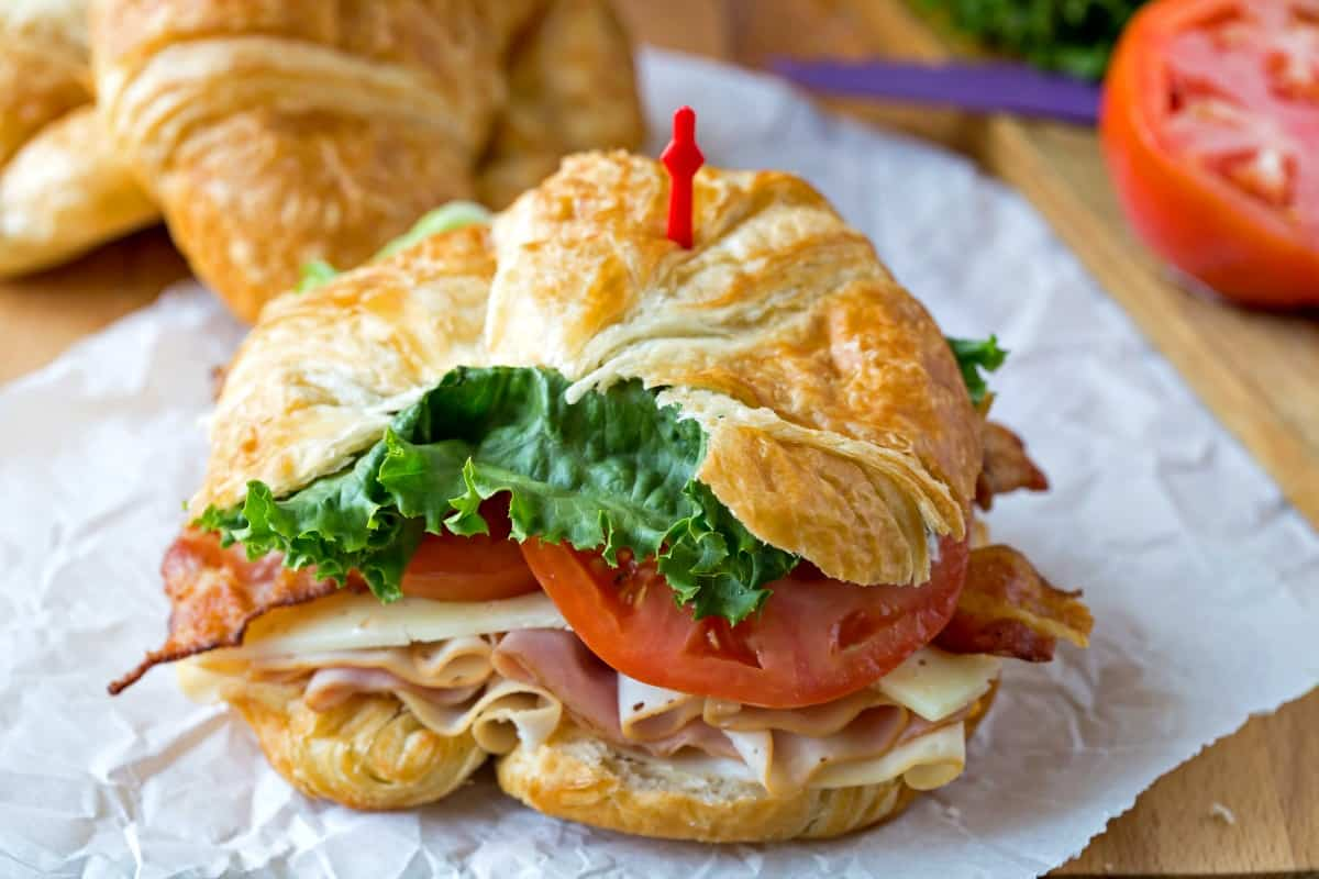 California Club Croissant Sandwich - i heart eating