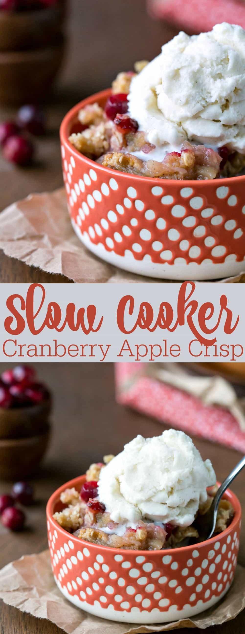 Slow Cooker Cranberry Apple Crisp