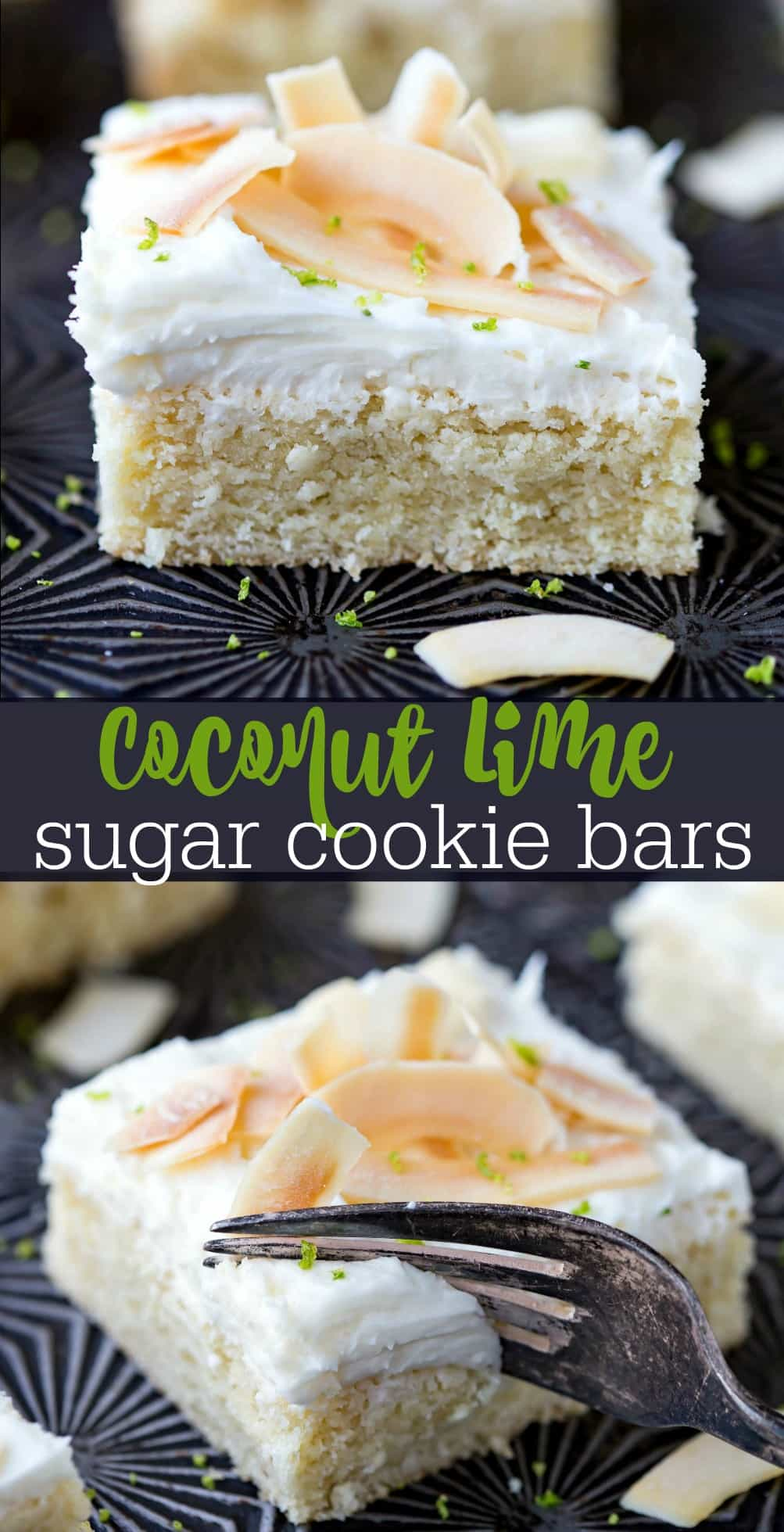 Coconut Lime Sugar Cookie Bars