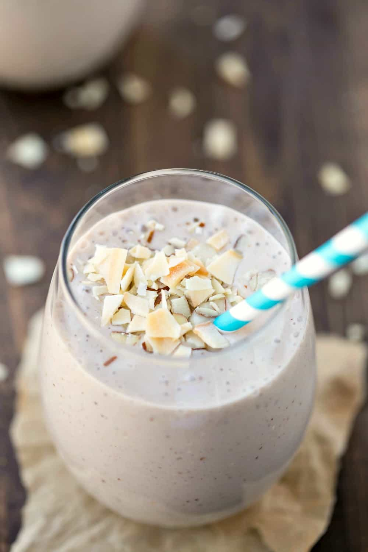 Chocolate Almond Coconut Banana Smoothie
