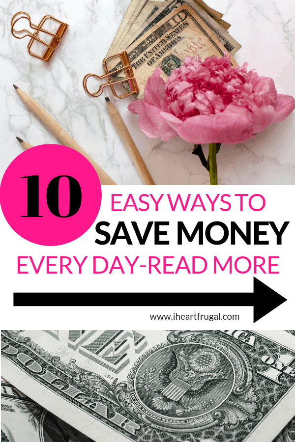 Easy ways to save money every day - Learn these easy money saving tricks and save more. #savemoney #moneytips #money