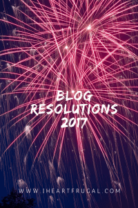Blog resolutions - 2017