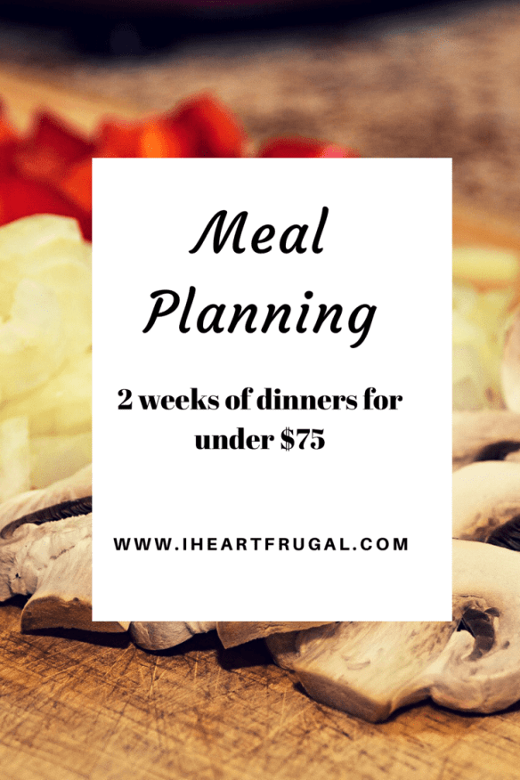 Budget Friendly Two-week Dinner Meal Planning - Under $75