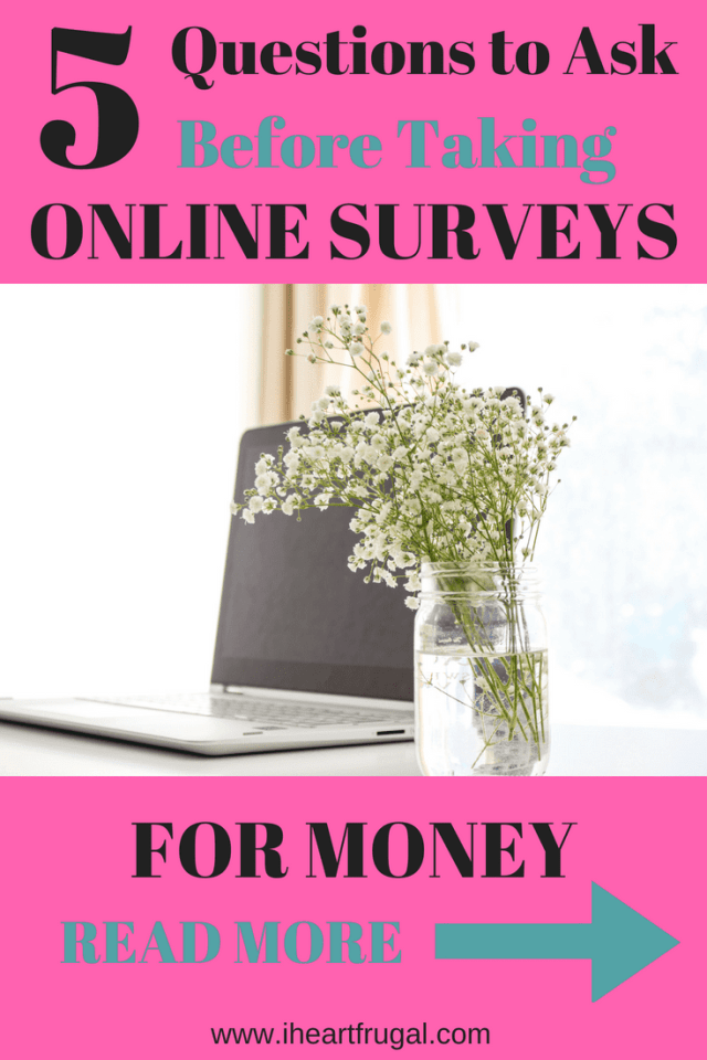 Online survey sites for money - 5 question to ask