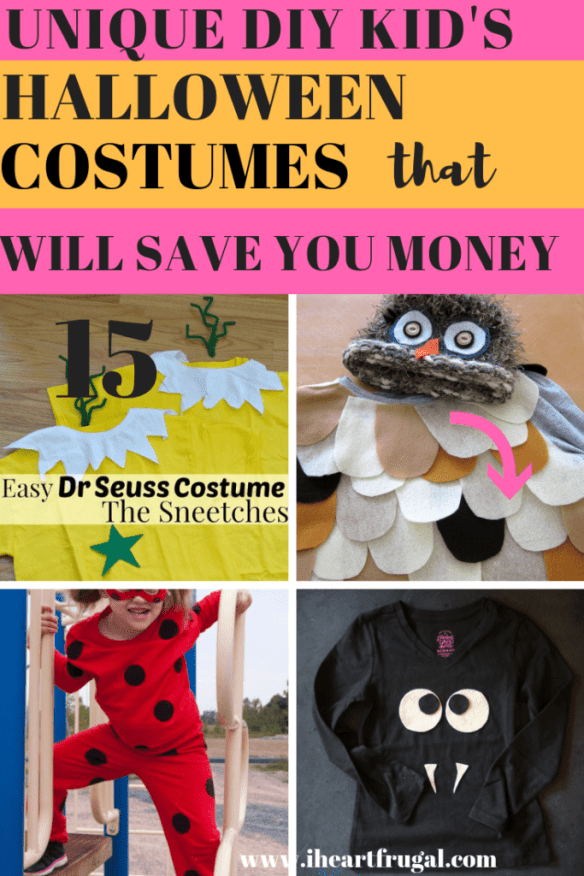 Unique DIY Kid's Costumes That Will Save You Money #halloween #DIY #save #frugal
