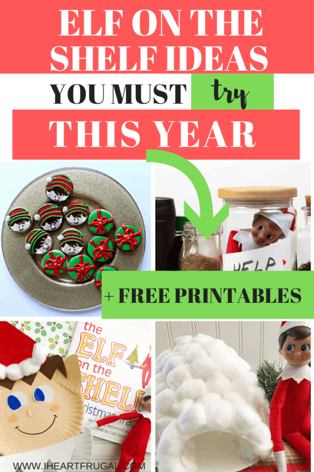 Elf on the Shelf Ideas to try this year. #christmas #elfontheshelf #Christmasactivities