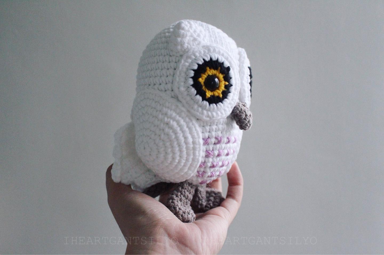 Crochet Snowy Baby Owl | I Heart Gantsilyo | 958x1440