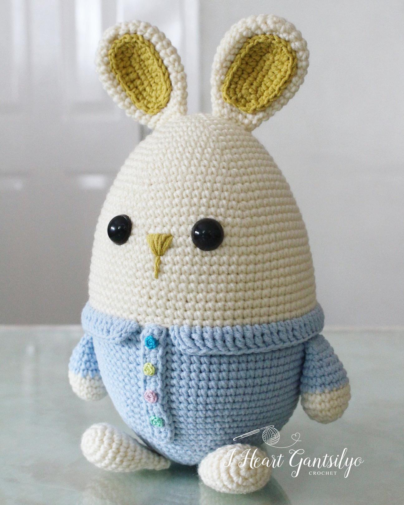 Crochet Eggster Bunny I Heart Gantsilyo