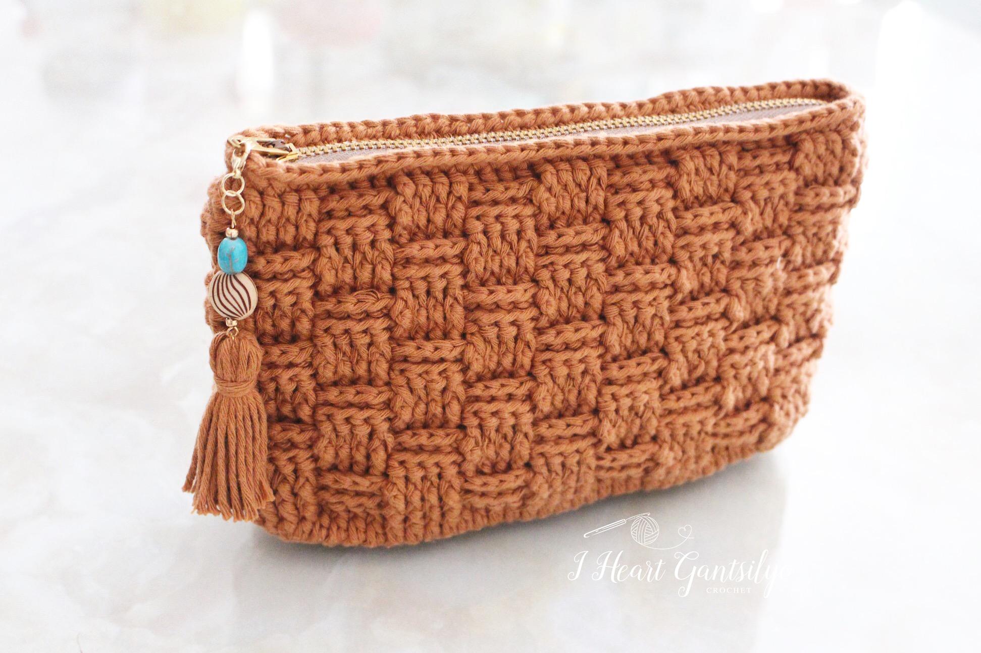 Basketweave Stitch Pouch   I Heart Gantsilyo