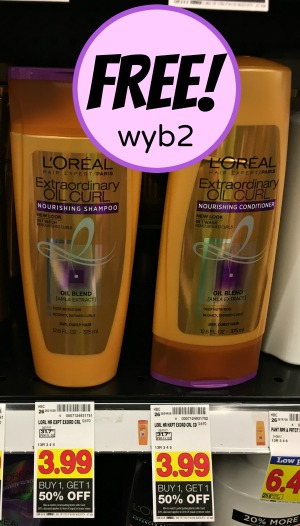 FREE L'Oreal Shampoo or Conditioner Upcoming At Kroger