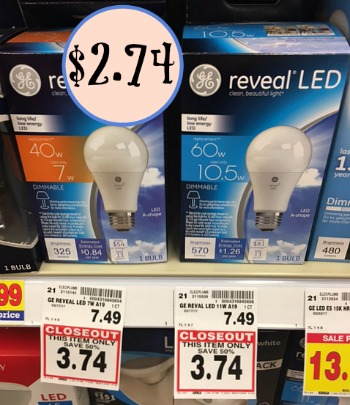 Good Print The New GE LED Coupon. Be On The Lookout For Closeout Deals At Your  Store And Pick Up LED Bulbs As Low As $2.74.
