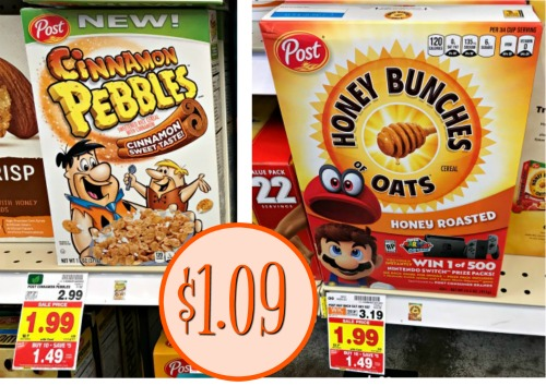 Make sure you load the Ibotta offers for savings on Post Cereals. Grab boxes of cereal as low as $1.09 while they are on sale at Kroger! & Post Cereal Ibotta Cash Back - Cereals As Low As $1.09 At Kroger Aboutintivar.Com