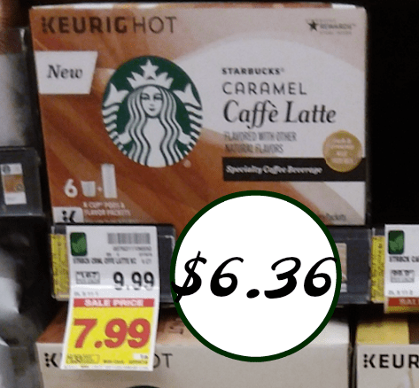 new starbucks caffe latte k cups coupons for the kroger sale