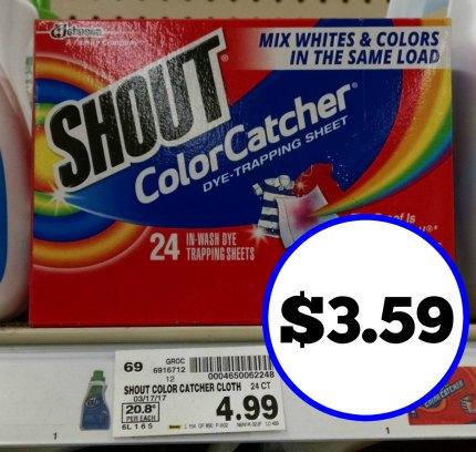 Shout Color Catcher Sheets - $3.59 At Kroger
