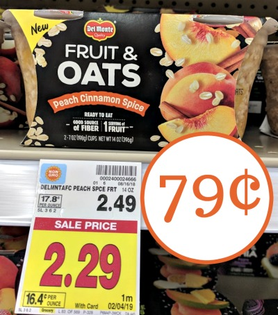 Del Monte Fruit Oats As Low As 79 At Kroger