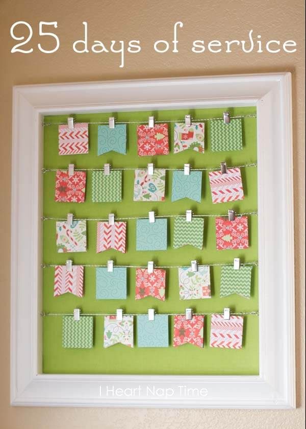 Diy christmas advent calendar ideas for Diy christmas advent calendar ideas