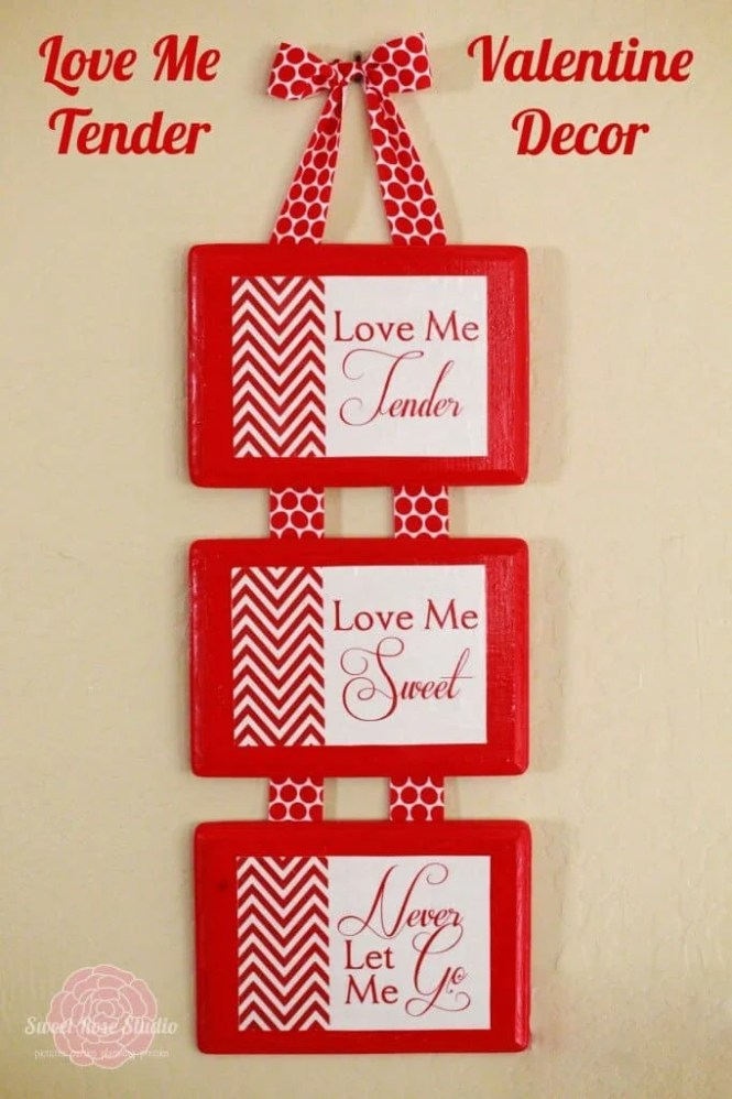 Valentines Day Crafts Decorations Red Hearts Stickers Tealight Holder