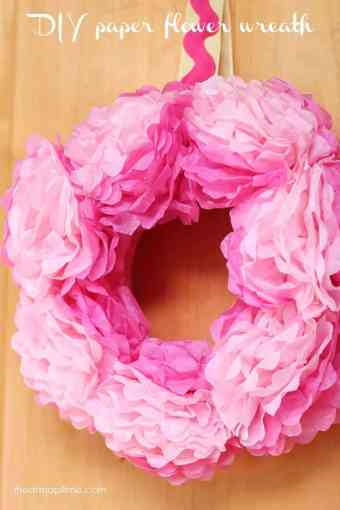 How To Make Tissue Paper Flowers   I Heart Nap Time DIY tissue paper flower wreath