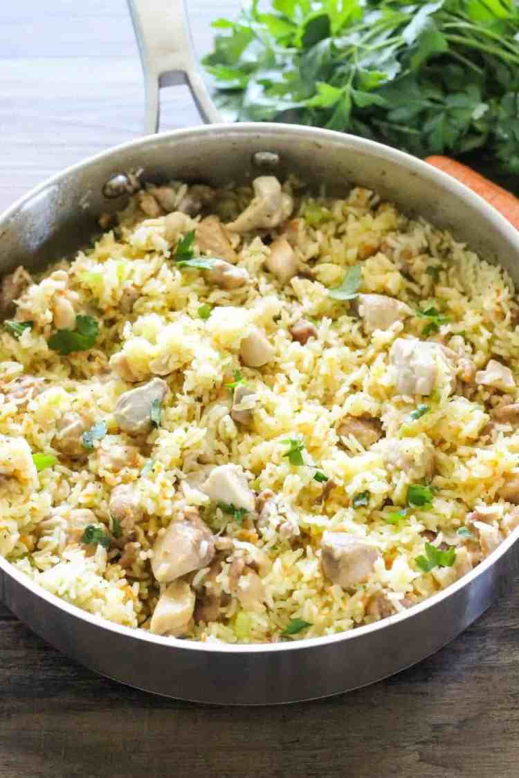 One Pot Chicken And Rice Easy Dinner Ideas