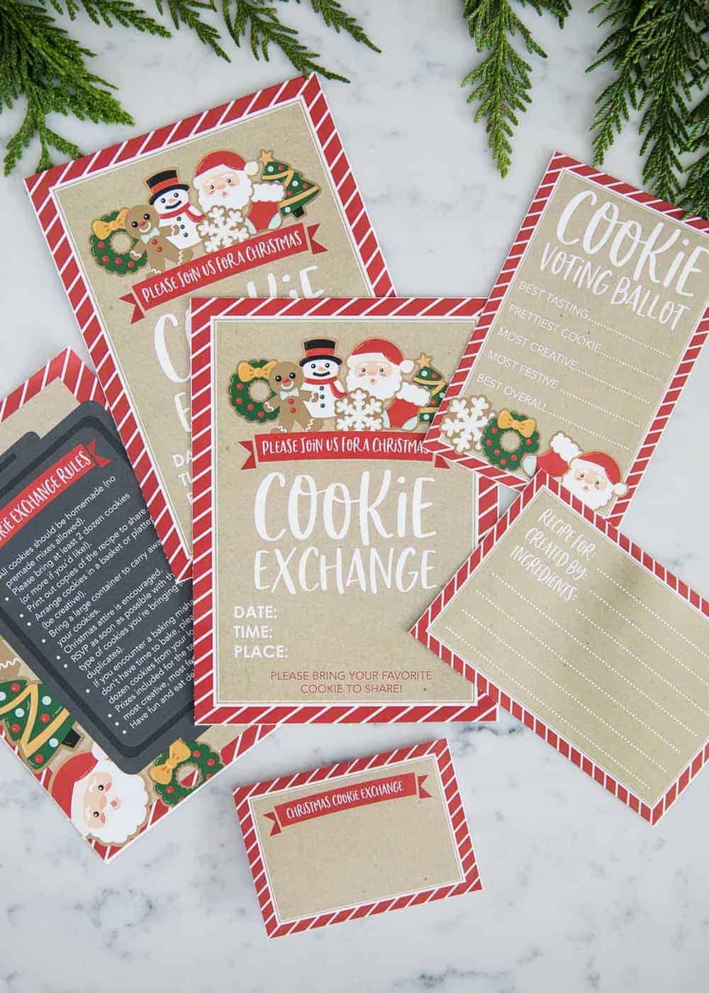 Each mason jar holds all the dry ingredients for a favorite cookie recipe,. How To Host A Cookie Exchange W Free Printables I Heart Naptime